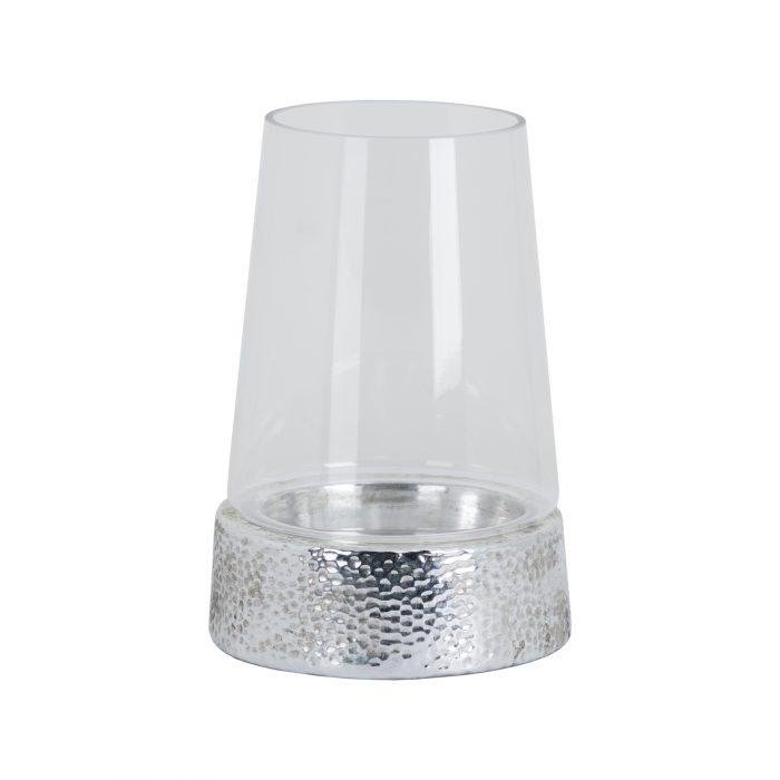 Metallic Ceramic Cylindrical Hurricane Lantern - Cosy Home Interiors