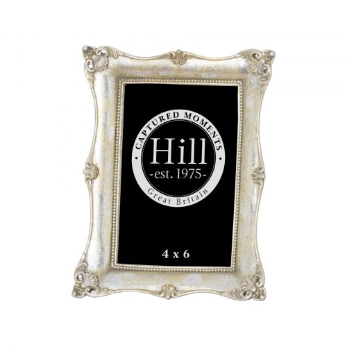 Antique Metallic Silver Decorative Photo Frame 4X6 - Cosy Home Interiors