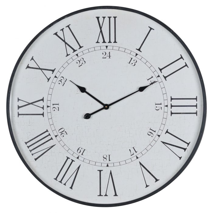 Large Embossed Station Clock - Cosy Home Interiors