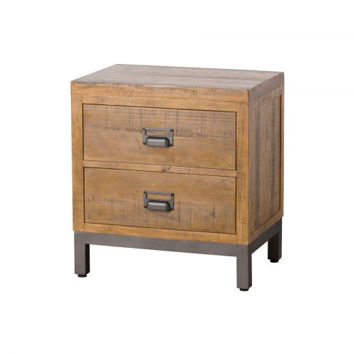 The Draftsman Collection Two Drawer Bedside - Cosy Home Interiors