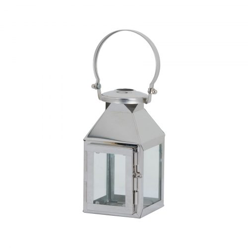 Small Silver Carriage Lantern - Cosy Home Interiors