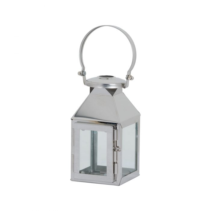 Small Silver Carriage Lantern - Cosy Home Interiors