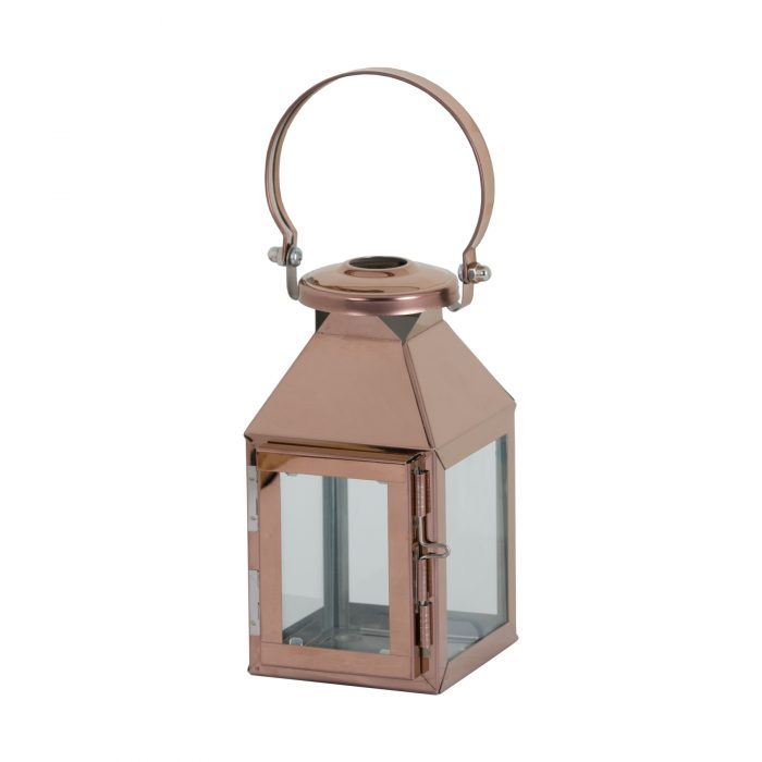 Small Copper Carriage Lantern - Cosy Home Interiors
