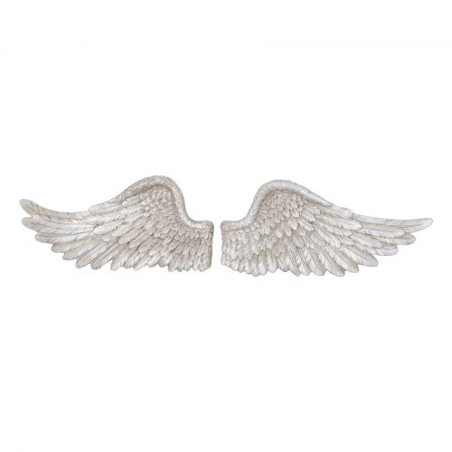 Antique Silver Horizontal Angel Wings - Cosy Home Interiors