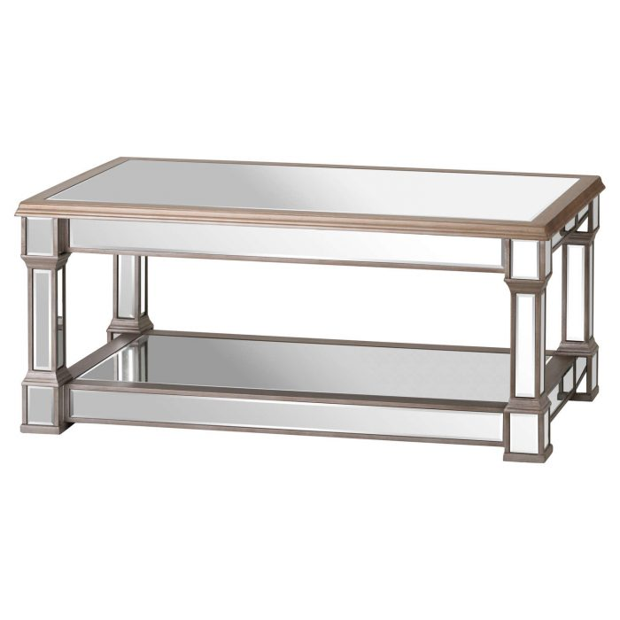 The Belfry Collection Mirrored Display Coffee Table - Cosy Home Interiors