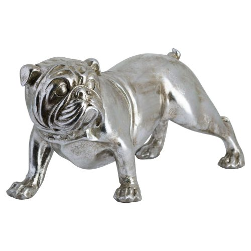 Winston The Bulldog Antique Silver Ornament - Cosy Home Interiors