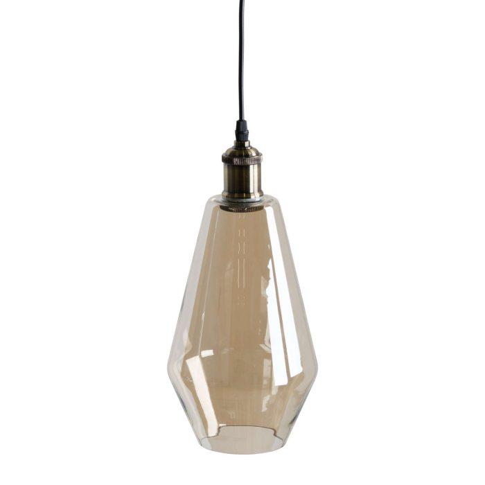 Smoked Glass Teardrop Pendant Light - Cosy Home Interiors