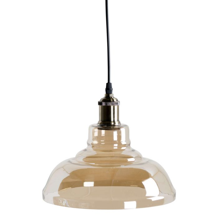 Smoked Glass Pendant Light - Cosy Home Interiors