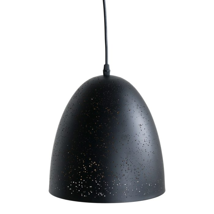 Black And Gold Pendant Light With Pitted Effect - Cosy Home Interiors