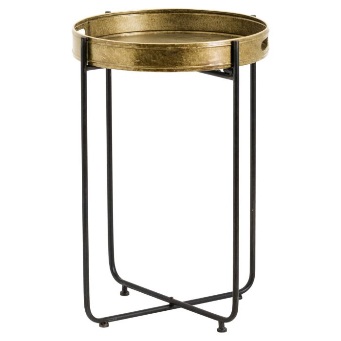 Tall Antique Gold Tray With Stand - Cosy Home Interiors