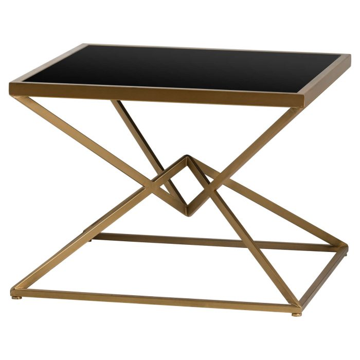 Antique Bronze Contemporary Display Sidetable - Cosy Home Interiors