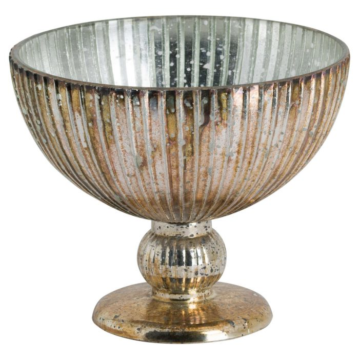 Glass Bowl In Antique Bronze Finish - Cosy Home Interiors