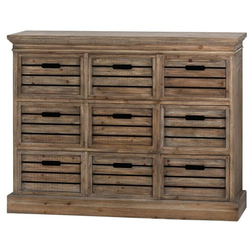 Brooklyn Distressed Pine Nine Drawer Chest - Cosy Home Interiors