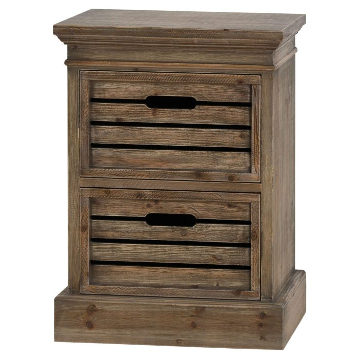 Brooklyn Distressed Pine Two Drawer Chest - Cosy Home Interiors