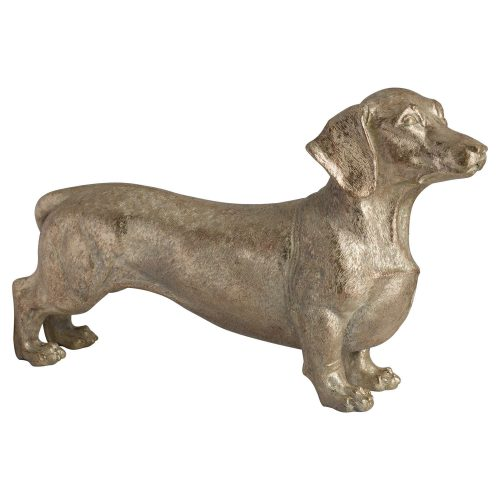 Bert The Dachshund Metallic Ornament - Cosy Home Interiors