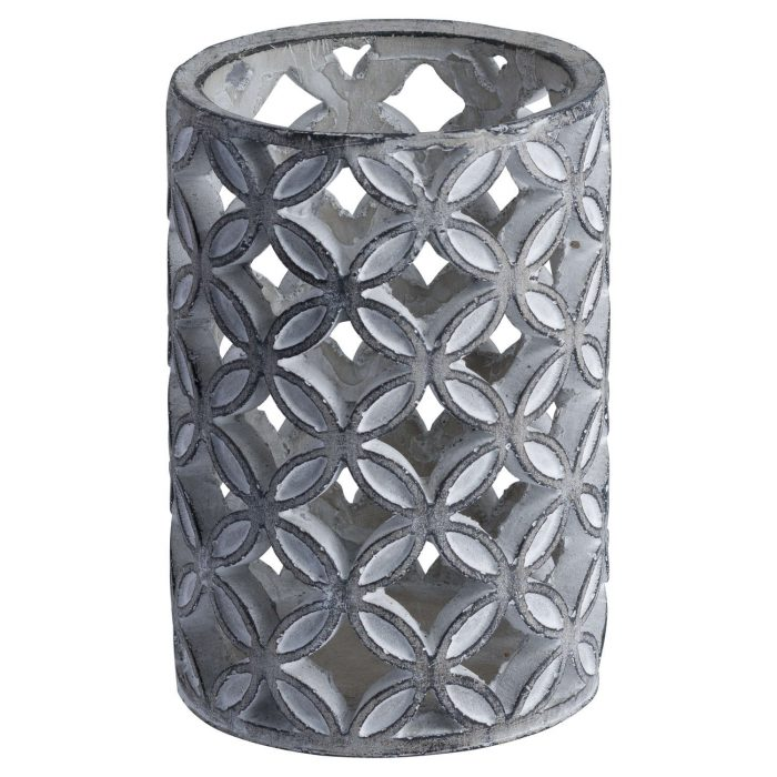 Large Geometric Stone Candle Sconce - Cosy Home Interiors