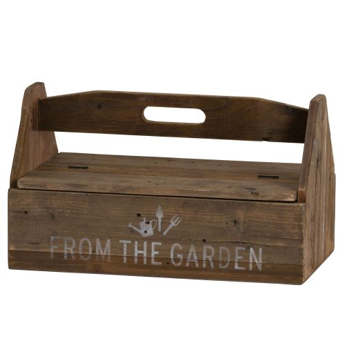 Rustic Wood Garden Tool Box - Cosy Home Interiors