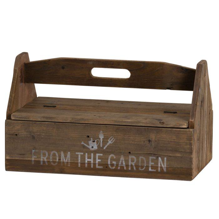 Rustic Wood Garden Tool Box - Cosy Home Interiors