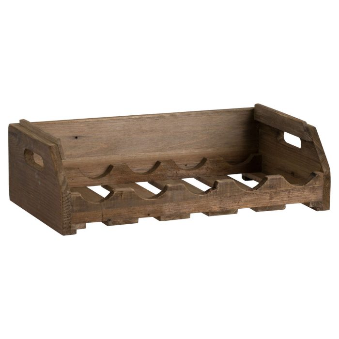 Rustic Wooden Stacking 5 Bottle Wine Crate - Cosy Home Interiors