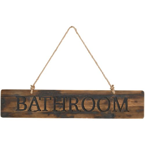 Bathroom Rustic Wooden Message Plaque - Cosy Home Interiors