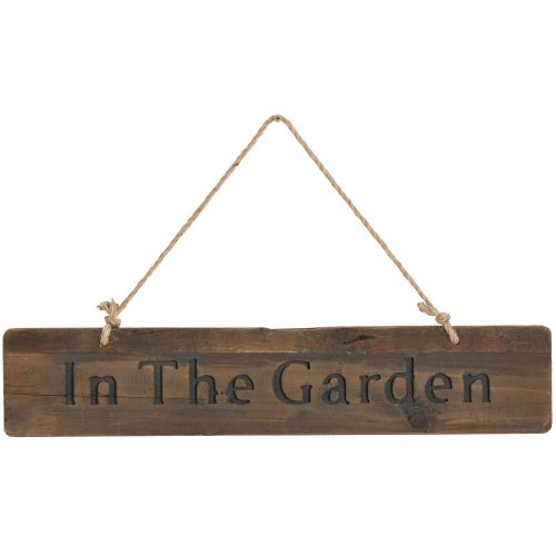 In The Garden Rustic Wooden Message Plaque - Cosy Home Interiors