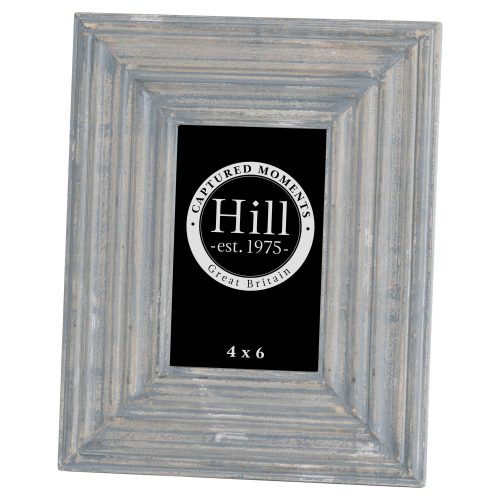Grey Painted 4x6 Detailed Photo Frame - Cosy Home Interiors
