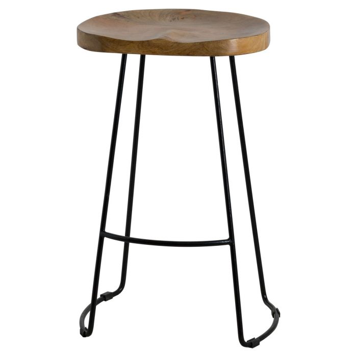 Franklin Hardwood Shaped Barstool - Cosy Home Interiors