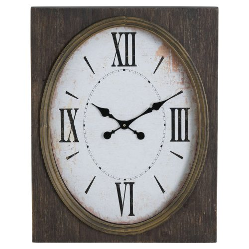 Inset Oval Clock With Roman Numeral - Cosy Home Interiors