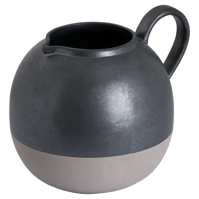 Metallic Grey Bulbous Jug - Cosy Home Interiors