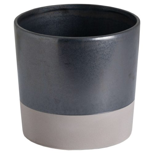 Large Metallic Grey Ceramic Planter - Cosy Home Interiors