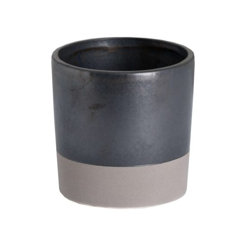 Metallic Grey Ceramic Planter - Cosy Home Interiors