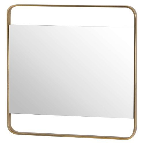Retro Square Framed Bronze Mirror - Cosy Home Interiors