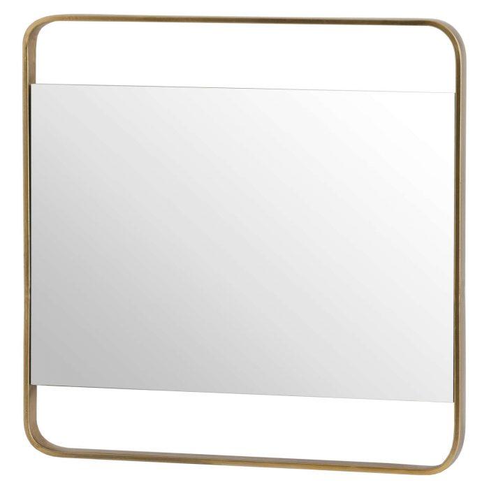 Retro Square Framed Bronze Mirror - Cosy Home Interiors