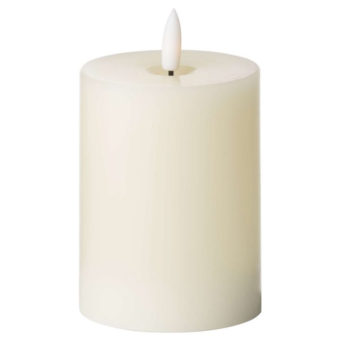 Luxe Collection Natural Glow 3 x 4 LED Ivory Candle - Cosy Home Interiors