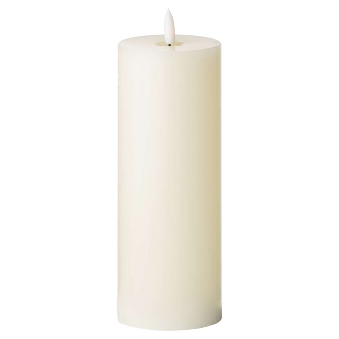 Luxe Collection Natural Glow 3 x 8 LED Ivory Candle - Cosy Home Interiors