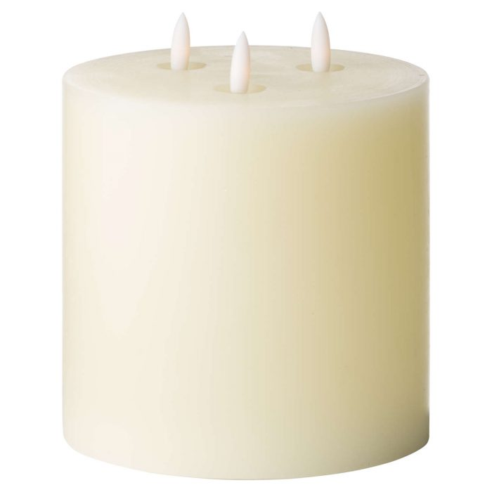 Luxe Collection Natural Glow 6 x 6 LED Ivory Candle - Cosy Home Interiors