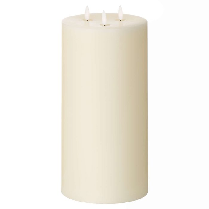 Luxe Collection Natural Glow 6 x 12 LED Ivory Candle - Cosy Home Interiors
