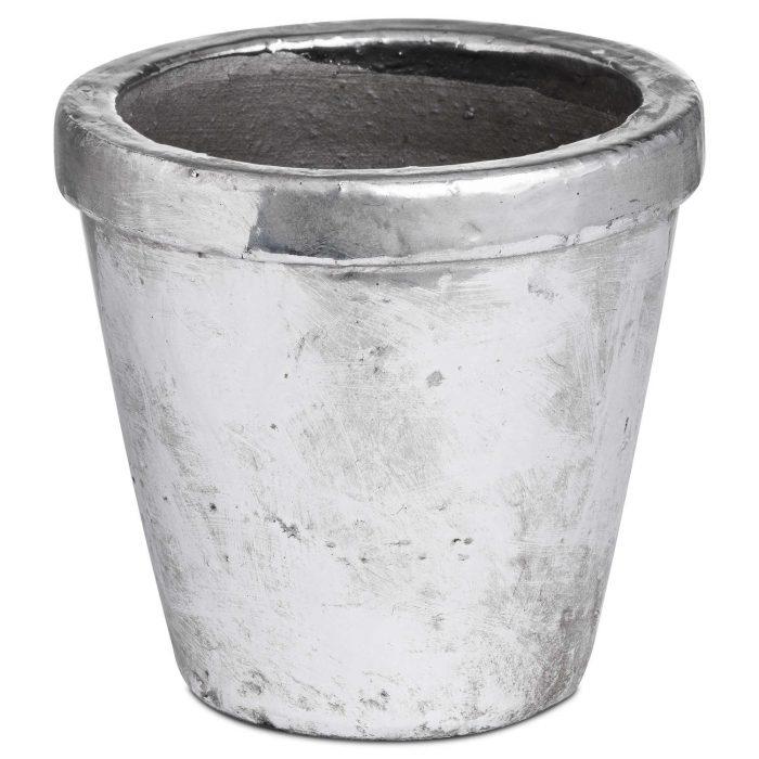 Metallic Ceramic Small Rimmed Plant Pot - Cosy Home Interiors