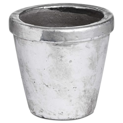 Metallic Ceramic Small Rimmed Plant Pot - Cosy Home Interiors