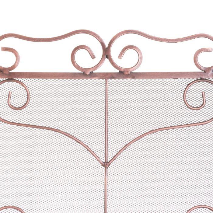 Large Copper Finish Ornate Fire Screen - Cosy Home Interiors