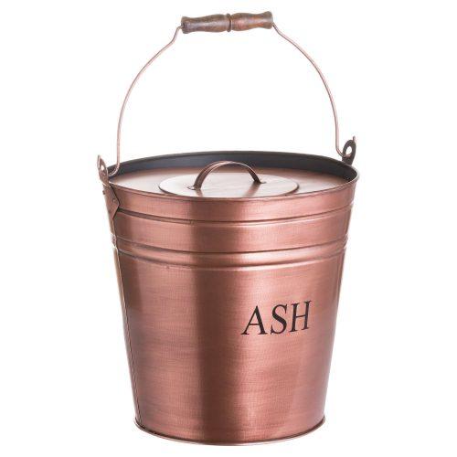 Ash Bucket In Copper Finish - Cosy Home Interiors