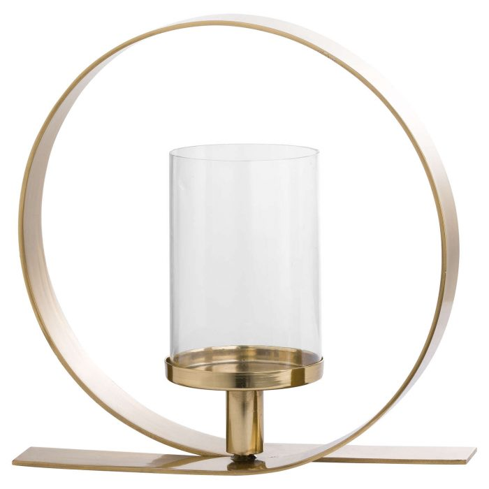 Gold Loop Design Candle Holder - Cosy Home Interiors