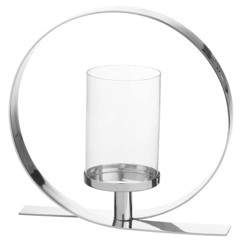 Silver Loop Design Candle Holder - Cosy Home Interiors