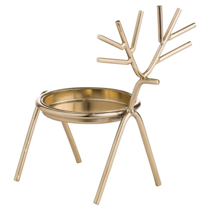 Gold Stick Reindeer Candle Holder - Cosy Home Interiors