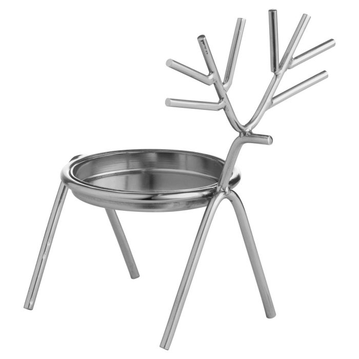 Silver Stick Reindeer Candle Holder - Cosy Home Interiors