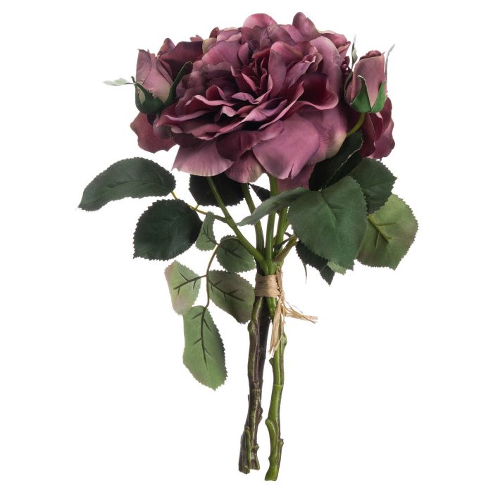 Dusty Pink Short Stem Rose Bouquet - Cosy Home Interiors