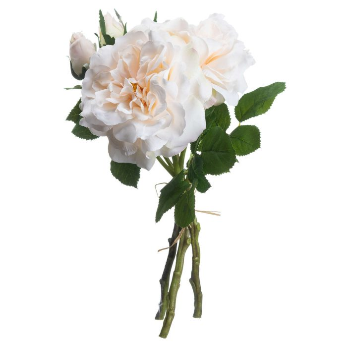 Peachy Cream Short Stem Rose Bouquet - Cosy Home Interiors