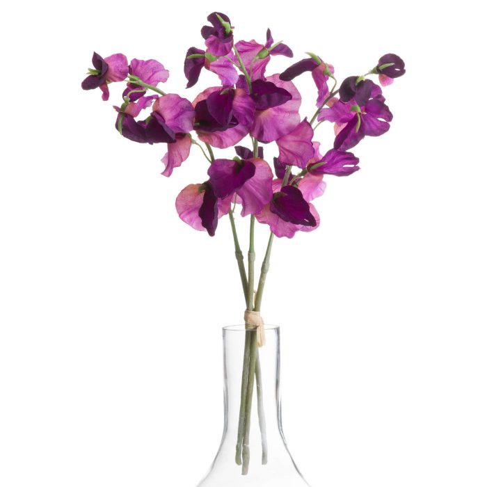 Purple Sweetpea Bouquet - Cosy Home Interiors