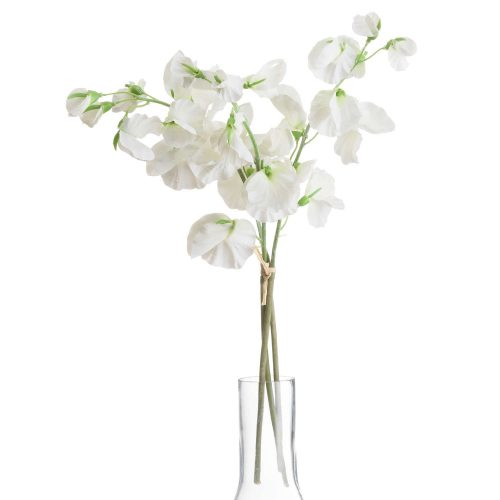 White Sweetpea Bouquet - Cosy Home Interiors
