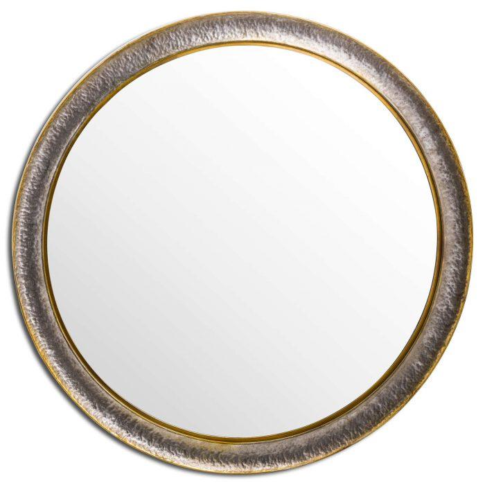 Large Hammered Circular Wall Mirror - Cosy Home Interiors
